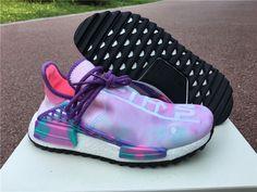 2018 Pharrell x adidas NMD Hu Trail Holi Pink Glow Flash Green-Lab Purple e370dfbe3