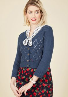 Adored Addition cardigan in navy from Modcloth. Cute outfit! 😍 Midnight  Blue 95d0240e3