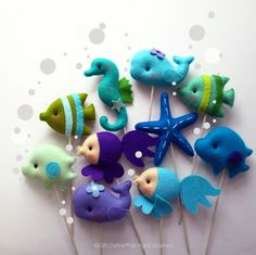 Under the Sea Friends Custom Party Favor, Cupcake Topper, Party Decor, Nautical Theme, Ocean, Beach Party, Wedding, Birthday, Baby Shower by GiftsDefine on Etsy https://www.etsy.com/listing/173529866/under-the-sea-friends-custom-party-favor