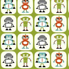 Robots fabric by natitys on Spoonflower - custom fabric