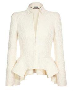 Alexander McQueen white jacket.