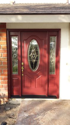 Oval Glass In Door.