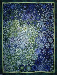 Another one block wonder quilt, this one looks like snowflakes.