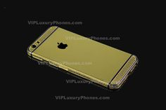 Buy now this exquisite IPhone 6 Plus luxury gold cover for online sale from our web store and secure your magnificent new housing. Iphone 6s Gold, Buy Iphone, Iphone 6 Covers, Black Crystals, 6s Plus, Cases, Luxury, Accessories, Design