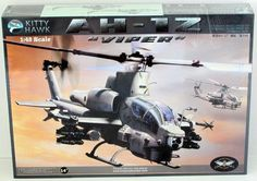 AH-1Z Viper Bell Helicopter Kitty Hawk #80125 1/48 Scale New Model Kit – Shore Line Hobby: Helicopter Kitty, Kitty Hawk, 1 48 Scale, Hawk 80125, Viper Bell, 80125 1 48