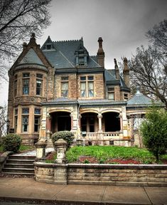 Brick Victorian. Wouldn't you just love to go to a Halloween party here?