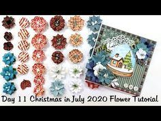 Day 11 Twelve Days of Christmas in July 2020 All About Flowers Tutorial ... Twelve Days Of Christmas, Christmas In July, Flower Tutorial, How To Make Paper, Flower Crafts, Rosettes, Scrapbook Pages, Paper Flowers, The Creator