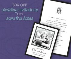 30% OFF all things wedding! Shop all Printswell wedding invitations and save the dates at a discounted price until March 31st.