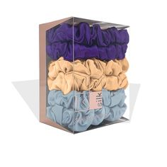 Small Silk Scrunchies (Pack of 6)