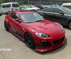 Výsledek obrázku pro mazda red with black rims and bodykit Rx7, Black Rims, Mazda, Vehicles, Car, Vehicle, Tools