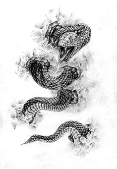 Эскизы татуировки змея. Рисунки тату