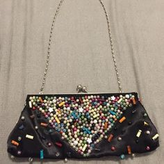 SALE! Beaded Clutch Can be used as a clutch or a handbag, as seen in the first photo. Sasha Bags Clutches & Wristlets