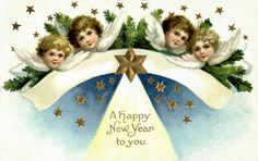 vintage happy new year postcard   Recent Photos The Commons Getty Collection Galleries World Map App ...