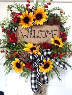 Summer or Fall Sunflower Burlap Mesh Wreath by WilliamsFloral - Crafting for Holidays . Summer or Fall Sunflower Burlap Mesh Wreath by WilliamsFloral - Crafting for Holidays, # for Succulent summer wrea. Wreath Crafts, Diy Wreath, Wreath Ideas, Wreath Burlap, Tulle Wreath, Wreath Making, Grapevine Wreath, Diy Crafts, Monogram Wreath