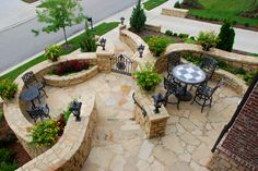 Gorgeous Stone Front Entry and Patio
