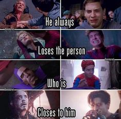 "Marvel be like: ""OkAY! we've got peter a new friend :D! He's going to be the. - Marvel be like: ""OkAY! we've got peter a new friend :D! He's going to be the… Marvel - Avengers Humor, Marvel Jokes, Marvel Avengers, Funny Marvel Memes, Marvel Films, Dc Memes, Marvel Heroes, Funny Movie Memes, Spiderman Marvel"