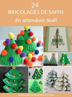 To take care of in December, here are 24 Christmas tree crafts for children (cr . - To take care of in December, here are 24 Christmas tree crafts for children (nursery, kindergarten - Christmas Activities For Kids, Christmas Tree Crafts, Crafts For Kids, Christmas Ornaments, Diy Presents, Diy Gifts, Christmas Bulletin Boards, Advent, Diy Tumblr