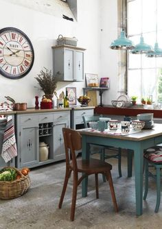 Different Color Design And Accessories For Shabby Chic Kitchen Ideas