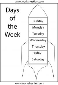 Days of the Week – 1 Worksheet And much much more!