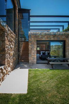 Maison pierre et acier de style contemporain en Australie