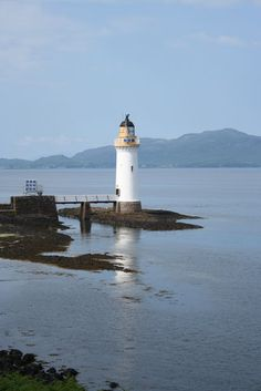A lighthouse on the Ilse of Mull, Scotland.