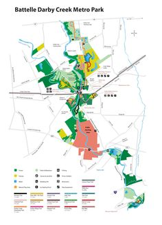 Metro Parks Central Ohio Park System Three Creeks Map Trails - Central ohio map