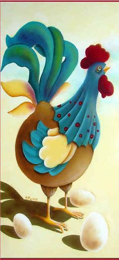 Sylvie Masse Patrons et pièces de bois pour peinture décorative Tole Painting, Bird Paintings, Chickens And Roosters, Clip Art, Pictures To Paint, Tweety, Inventions, Decoupage, Easter