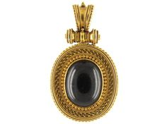 Victorian Gold Etruscan Locket Back Pendant from the Antique Jewellery Company, £1275