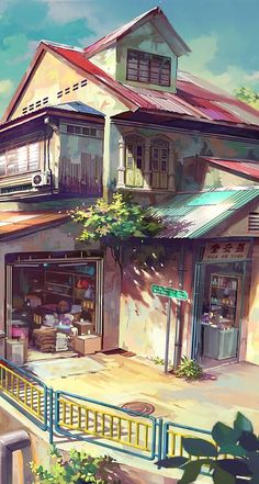 Find images and videos about anime, amazing and house on We Heart It - the app to get lost in what you love. Fantasy Landscape, Fantasy Art, Bts Art, Anime Places, Anime City, Background Drawing, Anime Scenery Wallpaper, Environment Concept Art, Environmental Art