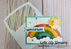Fun Call, Stampin Up Paper Pumpkin, Rainbow Card, Pocket Cards, Stamping Up, Stampin Up Cards, Card Making, Paper Crafts, Blog