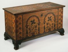 "Pennsylvania-German Dower Chest  Dimensions: H 27"", W 50"", D 22""  Date / Circa: c.1780  Maker / Origin: Berks County, Pennsylvania"