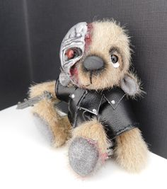 This is The Terminator aka Arnie x he is a commission that I have just finished for a lovely lady xx Bears, Teddy Bear, Gallery, Lady, Sweet, Handmade, Animals, Candy, Hand Made