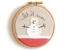 Snowman in a hoop.
