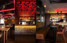 Bar Backbar #Cortensteel Ceiling Laser Cut Club Square - Design Beers Brickworks