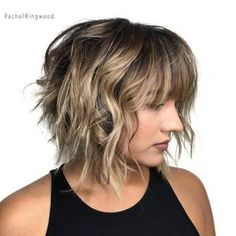 Image result for layered wavy bob with fringe