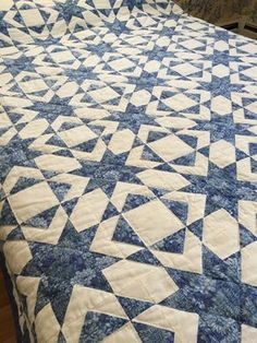 Two color bed quilt