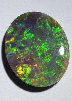 Beautiful, Large, Bright 30.4 Carat, Solid Black Opal from Lightning Ridge, with Very nice Colour; Body Tone N3 to N4;Brightness 4.2/5 by GEMOFIRE on Etsy