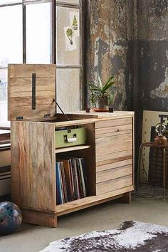 4040 Locust Wooden Media Console - Urban Outfitters
