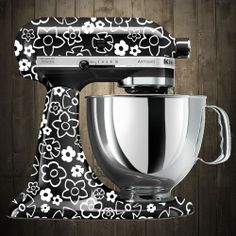 White flowers Kitchen Aid stand mixer decals Kitchen Aid Decals, Kitchen Aid Mixer, Kitchen Gadgets, Kitchen Appliances, Stand Mixer, Mixers, Kitchenaid, Silhouette Projects, Artisan
