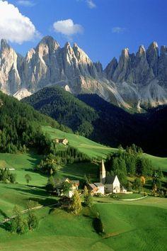 Santa Maddalena, Dolomites, Italy #visitingitaly