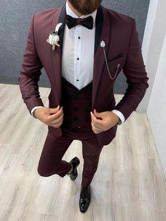 Aalvert Claret Red Slim Fit Tuxedo gentwith 💥 New Arrivals - Fall/Winter Collection' . Tuxedo Colors, Red Tuxedo, Tuxedo Suit, Tuxedo For Men, Groom Tuxedo, Wedding Dresses Men Indian, Wedding Dress Men, Wedding Suits, Kebaya Wedding