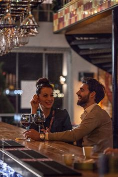 Couple on a Date Drinking Wine at the Bar by Mosuno - Bar, Couple - Stocksy United Wine Photography, Couple Photography Poses, Lifestyle Photography, Engagement Photo Poses, Engagement Photo Inspiration, Engagement Pictures, Wedding Ideias, Foto Casual, Pre Wedding Photoshoot