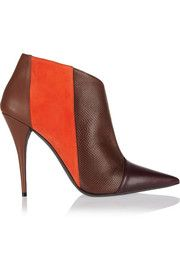 Narciso RodriguezSarah leather, suede and watersnake ankle boots