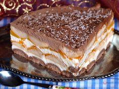 FotoRecept   Broskyňová nepečená torta