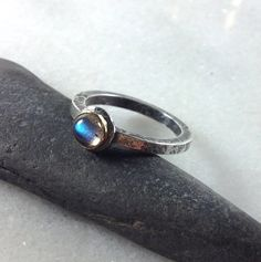 silver 18ct gold and labradorite Relic ring £78.00