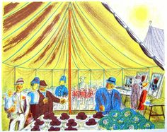 'The Village Show' by Edward Bawden, 1946 (lithograph) David Gentleman, Village Fete, Edward Gorey, Royal College Of Art, World War Two, Metal Working, Artist, Artwork, Prints