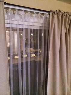Putting Blackout Curtains Over Blinds