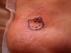 Everyone knows Im CRAZY about Hello Kitty but this is actually right where Im gonna get my first tattoo!