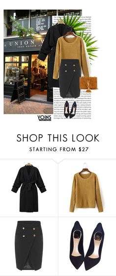 """Yoins 7/10"" by mell-2405 ❤ liked on Polyvore featuring Oris, Christian Dior, Yves Saint Laurent and yoins"
