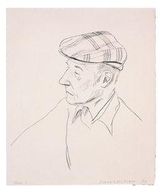 David Hockney одноцветные литографии отпечатанные в Gemini G.E.L. в 1976 -1981 годах #davidhockney #geminigel #litography